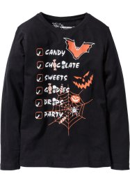 "Maglia a manica lunga ""Halloween"", bpc bonprix collection, Nero"