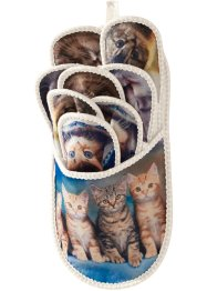 "Set di pantofole ""Gattini"" (set 9 pezzi), bpc living"
