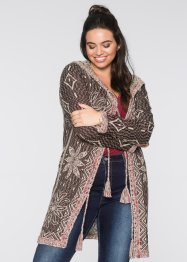 Cardigan traforato, RAINBOW, Marrone