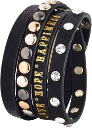 Bracciale borchiato, bpc bonprix collection, Nero