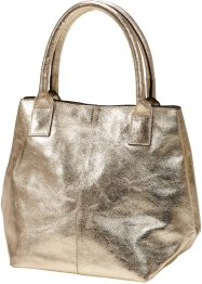 Borsa in pelle metallizzata, bpc bonprix collection, Oro metallizzato