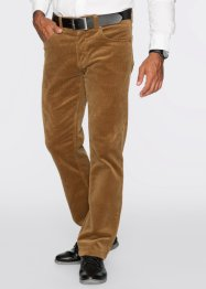 Pantalone in velluto elasticizzato regular fit straight, bpc selection, Cognac
