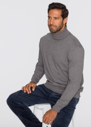 Pullover dolcevita regular fit, bpc selection, Grigio melange