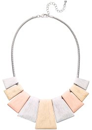 Collier tricolore, bpc bonprix collection, Color argento / color oro / color oro rosato /