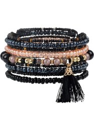 Set di bracciali con nappine (set 9 pezzi), bpc bonprix collection