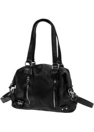 Borsa con cerniere, bpc bonprix collection, Nero