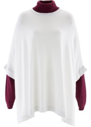 Poncho-pullover, bpc bonprix collection, Bianco panna
