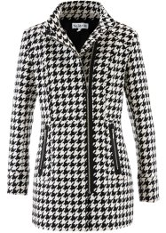 Cappotto firmato Maite Kelly, bpc bonprix collection, Nero / bianco panna fantasia