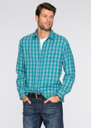 Camicia a quadri regular fit, bpc bonprix collection, Verde smeraldo
