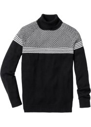 Pullover dolcevita regular fit, bpc selection, Nero