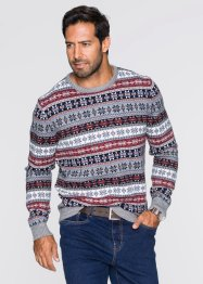 Pullover con scollo rotondo regular fit, bpc bonprix collection, Marrone chiaro
