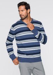 Pullover a righe regular fit, bpc selection, Blu a righe