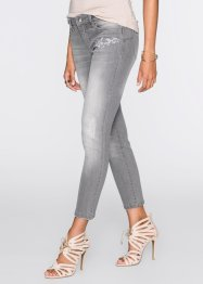 Jeans ricamato, BODYFLIRT, Light grigio denim
