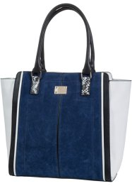 Borsa a trapezio tricolore, bpc bonprix collection, Blu / nero / beige