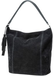 Borsa in simil camoscio, bpc bonprix collection, Nero