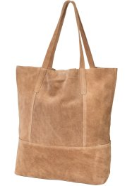 Borsa shopper in pelle, bpc bonprix collection, Marrone chiaro