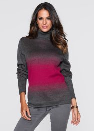 Pullover dolcevita, bpc selection, Antracite melange / bacca
