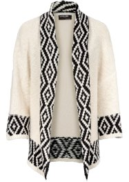 Cardigan, BODYFLIRT boutique, Crema / nero