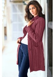 Cardigan lungo, bpc selection, Rosso acero