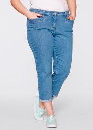 Jeans elasticizzato modellante 7/8, bpc bonprix collection, Medium blu bleached