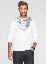 Pullover slim fit, RAINBOW, Bianco