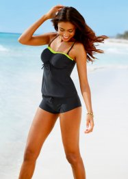Top per tankini, bpc bonprix collection, Nero / verde neon