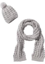 Berretto con pompon + sciarpa con lurex (set 2 pezzi), bpc bonprix collection