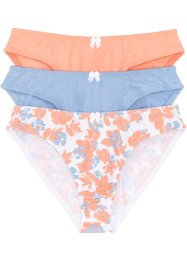 Slip (pacco da 3), bpc bonprix collection, Fantasia + blu + papaya