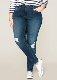Jeans in look usato Maite Kelly, bpc bonprix collection, Blu stone used