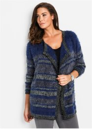 Cardigan in lurex con filato piumato, bpc selection