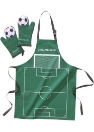 "Set per barbecue ""Calcio"" (set 3 pezzi), bpc living, Verde"