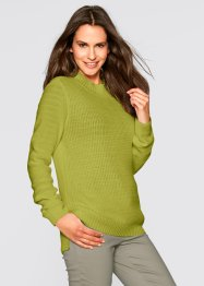 Pullover in maglia operata con collo dritto, bpc bonprix collection