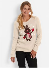 Pullover con scollo rotondo, bpc bonprix collection