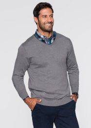 Pullover con cachemire regular it, bpc selection, Grigio fumé