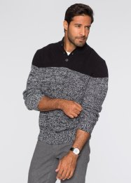 Pullover regular fit, bpc selection, Nero / bianco