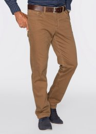 Pantalone termico in twill elasricizzato regular fit, bpc selection, Cognac
