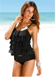 Top per tankini, bpc selection, Nero