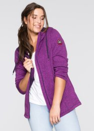 Cardigan in pile, bpc bonprix collection, Peonia melange