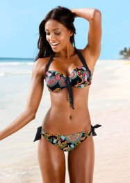 Bikini con ferretto, bpc bonprix collection, Nero fantasia