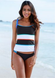 Top per tankini, bpc bonprix collection, Nero / bianco
