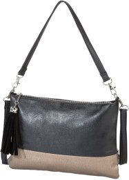 Borsa a tracolla, bpc bonprix collection, Nero / metallizzato oro