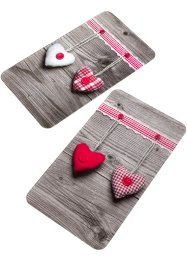 Coprifornelli con cuori (set 2 pezzi), bpc living bonprix collection