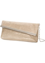 Pochette con patta obliqua, bpc bonprix collection, Color oro rosato chiaro