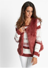 Gilet in ecopelliccia, bpc selection, Marsala