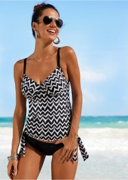 Top con ferretto per tankini, bpc bonprix collection, Bianco / nero