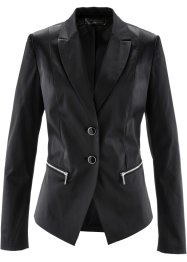 Blazer in satin, bpc selection premium, Nero