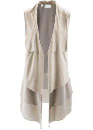 Gilet in similpelle con chiffon, bpc selection