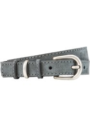 Cintura in pelle, bpc bonprix collection, Grigio