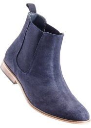 Stivaletto in pelle, bpc selection, Blu scuro
