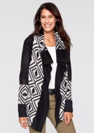 Cardigan, bpc bonprix collection, Nero jacquard